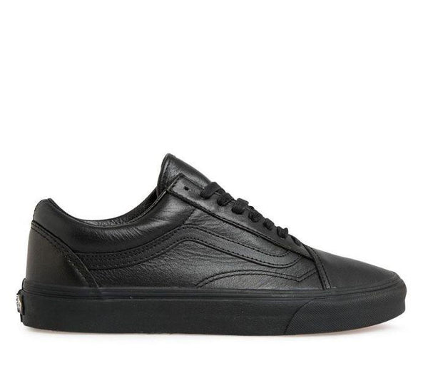 VANS LEATHER OLD SKOOL ADULT - BLACK