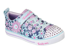 SKECHERS SPARKLE LITE SUPER BLOOMS - DENIM