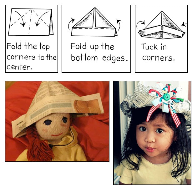 Dilly Dally Kids — make a paper hat