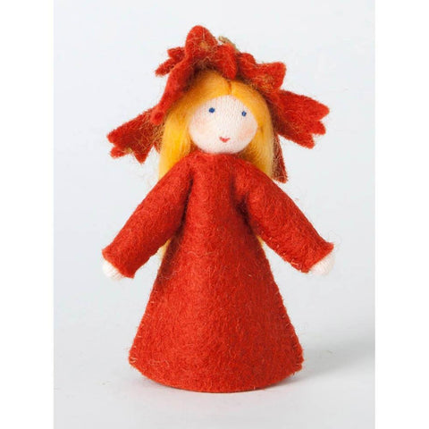 Ambrosius wool felt doll maple leaf-people, animals & lands-Ambrosius-Dilly Dally Kids