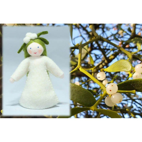 Ambrosius wool felt doll - girl mistletoe-people, animals & lands-Ambrosius-Dilly Dally Kids
