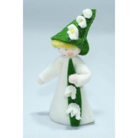 Ambrosius wool felt doll holding lily of the valley-people, animals & lands-Ambrosius-Dilly Dally Kids