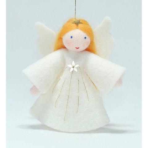 Ambrosius wool felt doll little angel tree ornament-people, animals & lands-Ambrosius-Dilly Dally Kids