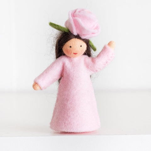 Ambrosius felt doll pink rose fair skin