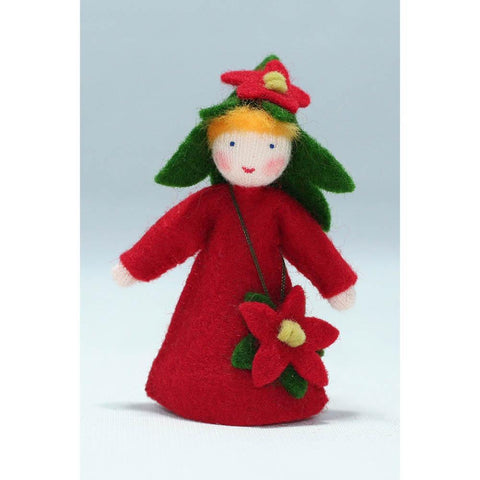 Ambrosius wool felt doll poinsetta-people, animals & lands-Ambrosius-Dilly Dally Kids