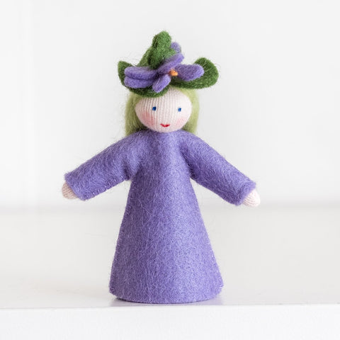 Ambrosius felt doll violet-people, animals & lands-Ambrosius-Dilly Dally Kids
