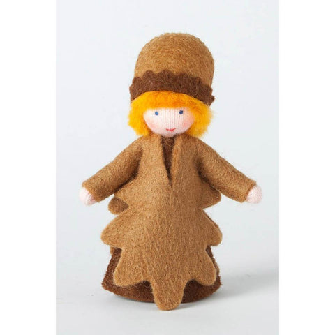 Ambrosius wool felt doll acorn brown-people, animals & lands-Ambrosius-Dilly Dally Kids