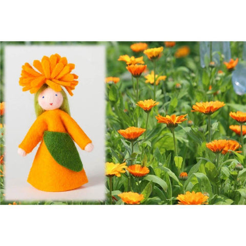 Ambrosius wool felt doll calendula girl-people, animals & lands-Ambrosius-Dilly Dally Kids