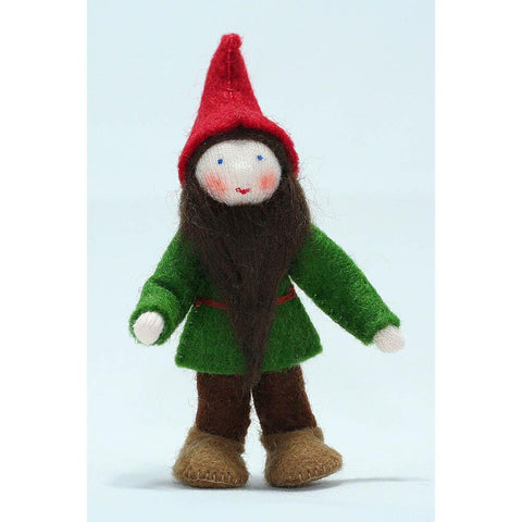 Ambrosius wool felt red pocket dwarf-people, animals & lands-Ambrosius-Dilly Dally Kids