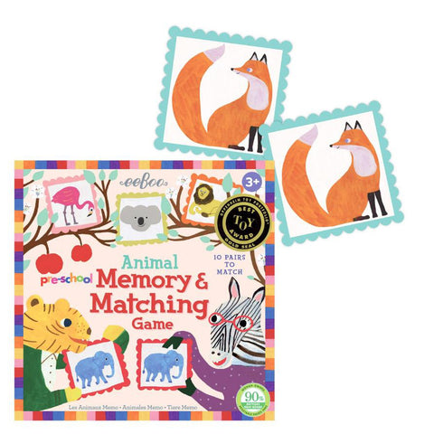 animal memory game-games-eeBoo Toys & Gifts-Dilly Dally Kids