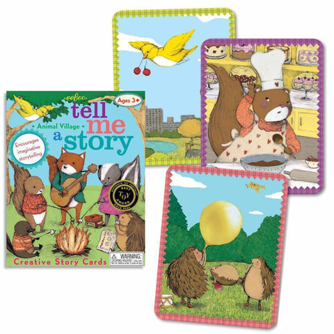 animal story-telling cards-games-eeBoo Toys & Gifts-Dilly Dally Kids