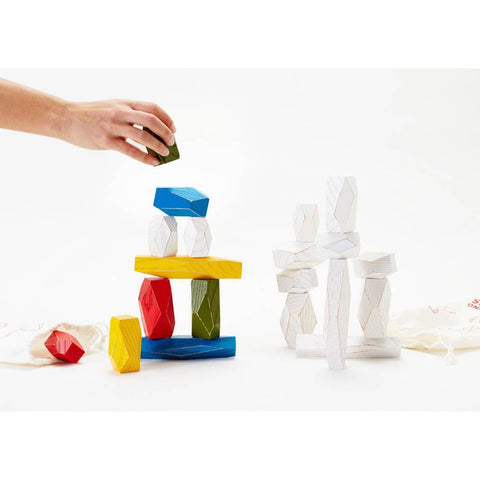 Areaware balancing blocks - multi colour-blocks & building sets-Areaware-Dilly Dally Kids