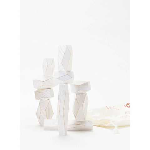 Areaware balancing blocks - white-blocks & building sets-Areaware-Dilly Dally Kids