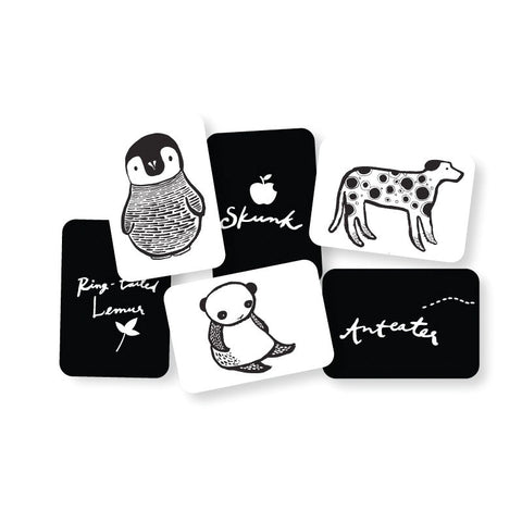 black and white art cards for baby-baby-Wee Gallery-Dilly Dally Kids