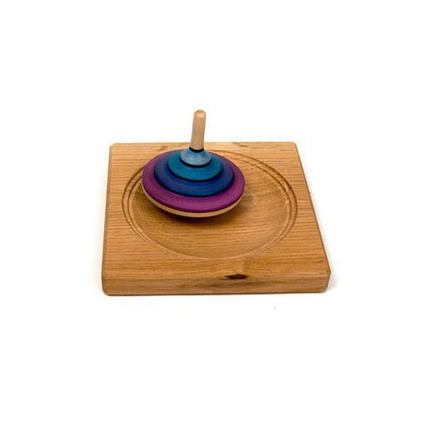 black medium spinning top plank-adult and brain-Mader-Dilly Dally Kids