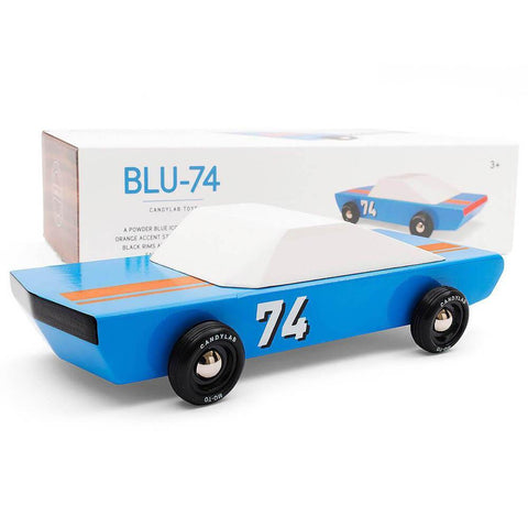Candylab blu 74 car-cars, boats, planes & trains-Candylab Wooden Cars-Dilly Dally Kids
