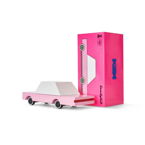 Candylab mini candycar pink sedan-cars, boats, planes & trains-Candylab Wooden Cars-Dilly Dally Kids