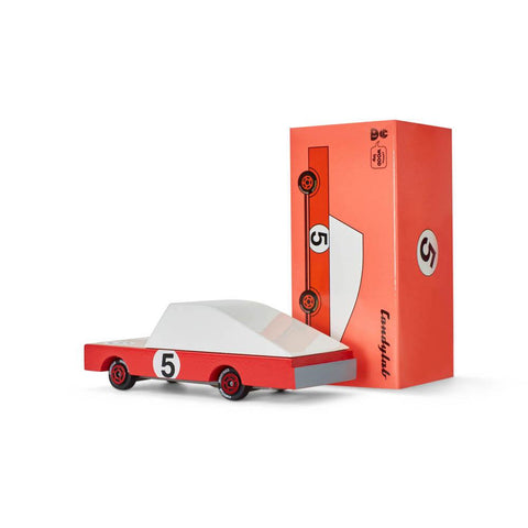 Candylab mini candycar red racer #5-cars, boats, planes & trains-Candylab Wooden Cars-Dilly Dally Kids