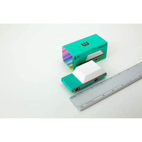 Candylab mini candycar teal station wagon-cars, boats, planes & trains-Candylab Wooden Cars-Dilly Dally Kids