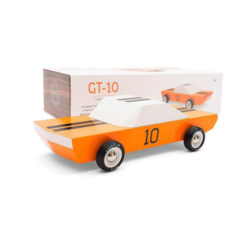 Candylab orange racer GT-10-cars, boats, planes & trains-Candylab Wooden Cars-Dilly Dally Kids