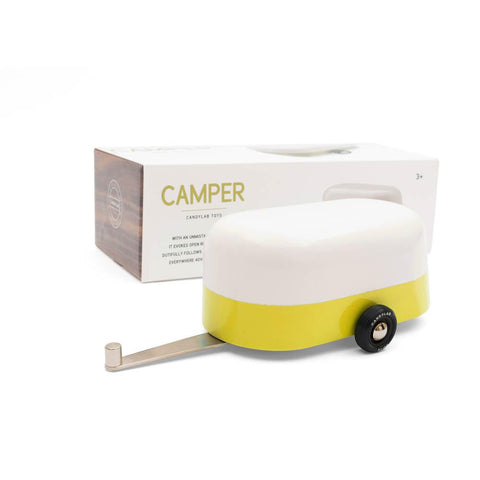Candylab yellow camper-cars, boats, planes & trains-Candylab Wooden Cars-Dilly Dally Kids