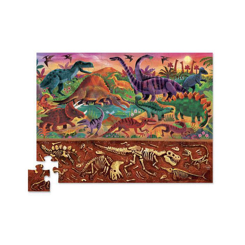 Crocodile Creek above and below dinosaur 48 piece puzzle