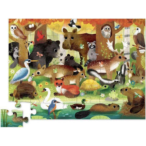 Crocodile Creek forest friends 36 piece puzzle