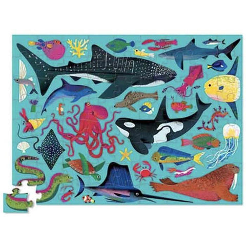 Crocodile Creek sea animals 72 piece puzzle