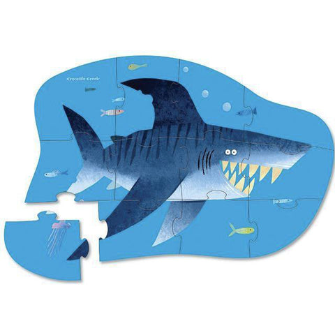 Crocodile Creek shark city 12 piece puzzle