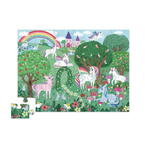 Crocodile Creek unicorn garden 36 piece puzzle