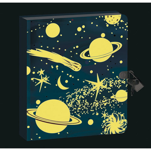 deep space glow in the dark diary