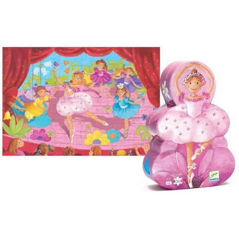 Djeco ballerina with flower 36 piece puzzle-puzzles-Djeco-Dilly Dally Kids