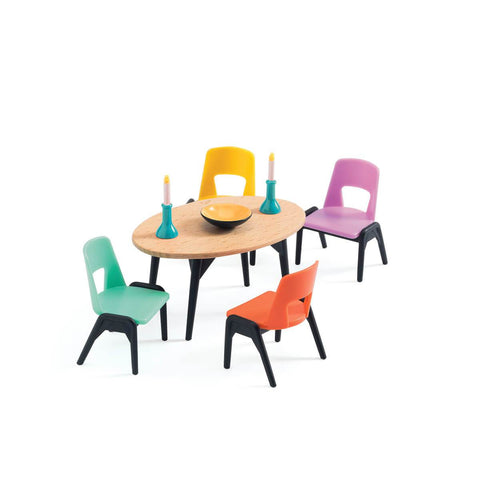 Djeco dining room set-people, animals & lands-Djeco-Dilly Dally Kids