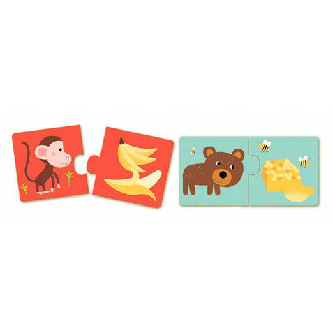 Djeco dinner's ready duo puzzles-puzzles-Djeco-Dilly Dally Kids