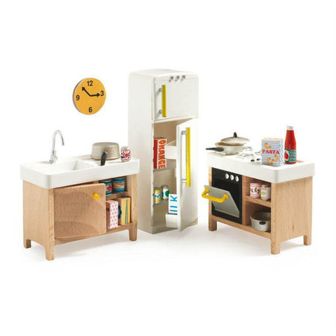Djeco doll house kitchen set-people, animals & lands-Djeco-Dilly Dally Kids