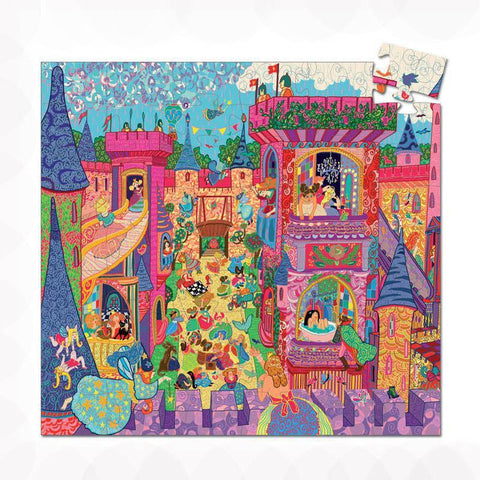 Djeco fairy castle 54 piece puzzle-puzzles-Djeco-Dilly Dally Kids
