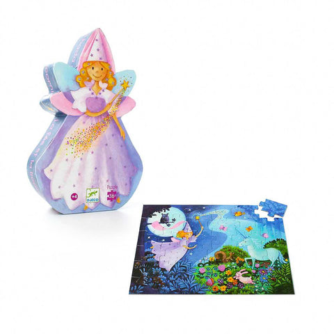 Djeco fairy & unicorn 36 piece puzzle-puzzles-Djeco-Dilly Dally Kids