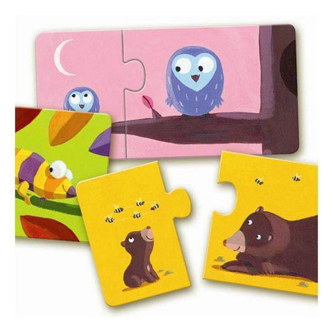 Djeco mom and baby duo puzzles-puzzles-Djeco-Dilly Dally Kids