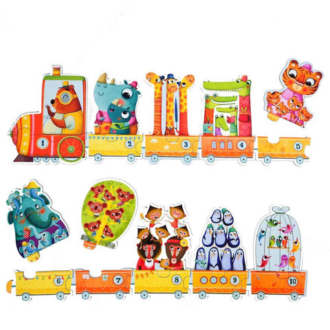 Djeco number train duo puzzles-puzzles-Djeco-Dilly Dally Kids