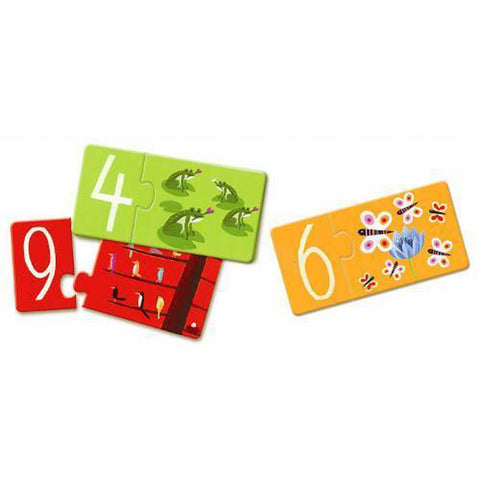 Djeco numbers duo puzzles-puzzles-Djeco-Dilly Dally Kids