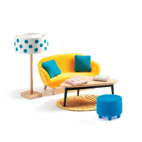 Djeco orange living room set-people, animals & lands-Djeco-Dilly Dally Kids