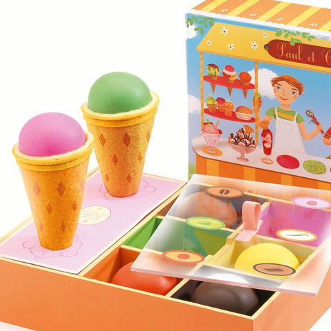 Djeco Paul & Cerise ice cream shop-pretend play-Djeco-Dilly Dally Kids