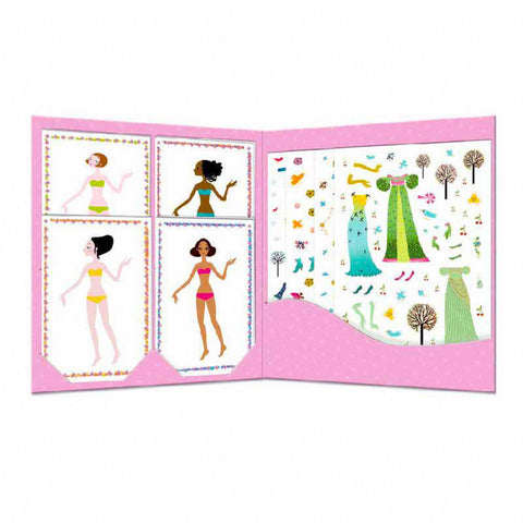 Djeco seasons dresses paper dolls-arts & crafts-Djeco-Dilly Dally Kids