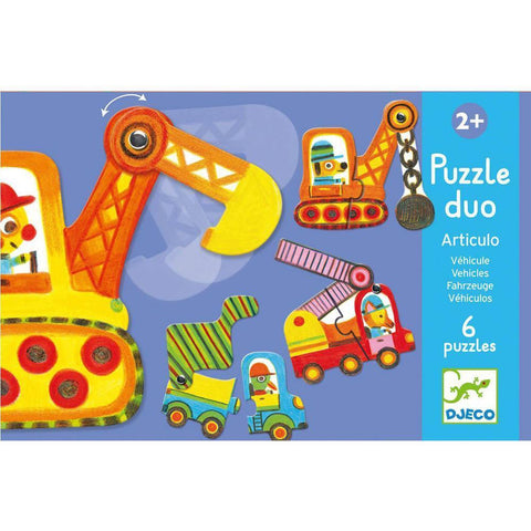 Djeco vehicles duo puzzles-puzzles-Djeco-Dilly Dally Kids