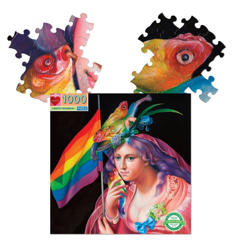 eeboo 1000 piece puzzle liberty rainbow