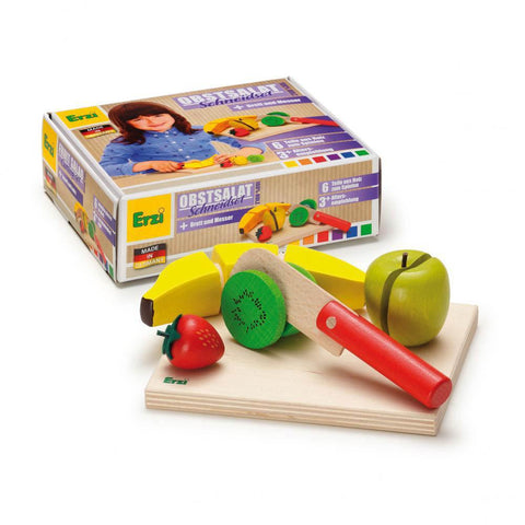 Erzi fruit salad cutting set-pretend play-Fire the Imagination-Dilly Dally Kids