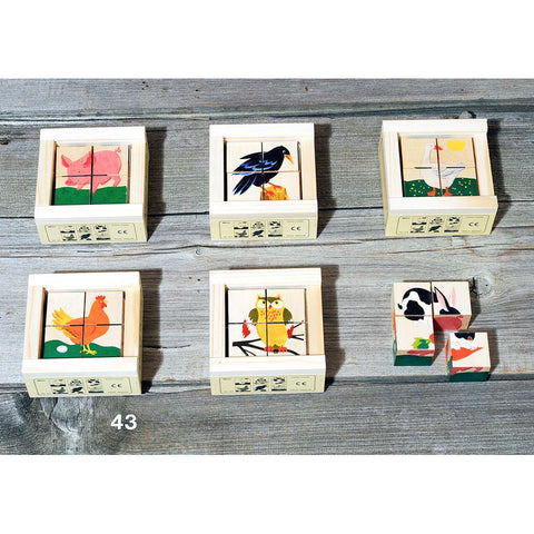 farmyard cube puzzle-blocks & building sets-Atelier Fischer Wooden Toys-Dilly Dally Kids