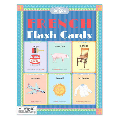 French flash cards-literacy-eeBoo Toys & Gifts-Dilly Dally Kids