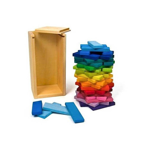 Gluckskafer rainbow building slats in tower-blocks & building sets-Fire the Imagination-Dilly Dally Kids