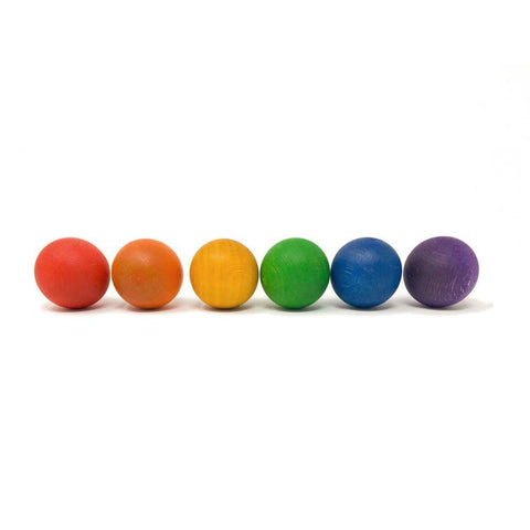 Grapat 6 coloured wood balls-blocks & building sets-Fire the Imagination-Dilly Dally Kids